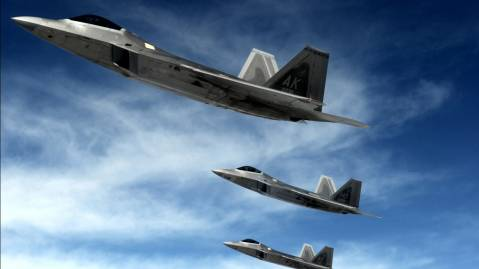 f 22 raptors stealth fighters