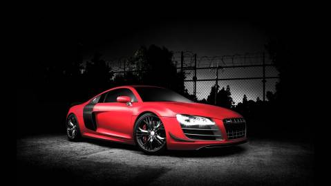 red audi r8 gt