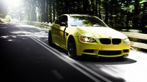 Yellow M3 Bimmer