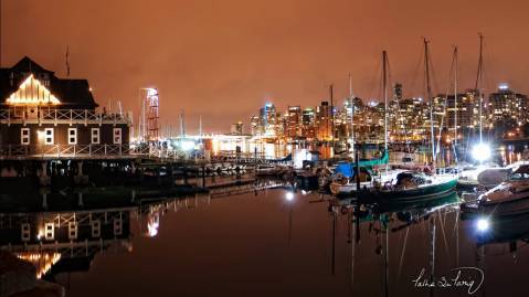 vancouver coal harbour nights
